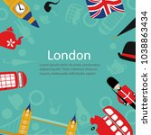vector flat london  united... | Shutterstock .eps vector #1038863434