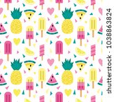 bright vector pattern with... | Shutterstock .eps vector #1038863824