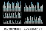 stylish gray blue equalizer for ... | Shutterstock .eps vector #1038865474