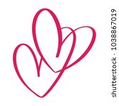 heart two love sign. icon on... | Shutterstock .eps vector #1038867019