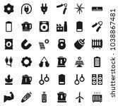flat vector icon set   kettle... | Shutterstock .eps vector #1038867481