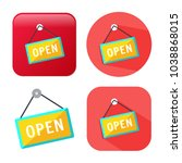 open store sign   shop icon | Shutterstock .eps vector #1038868015