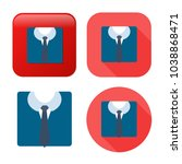 professional suit icon  ... | Shutterstock .eps vector #1038868471