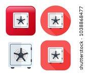 safe box icon   vector security ... | Shutterstock .eps vector #1038868477