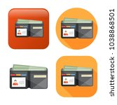 vector money wallet icon  | Shutterstock .eps vector #1038868501