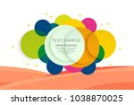 abstract circle colorful for... | Shutterstock .eps vector #1038870025