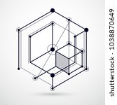 engineering technology vector... | Shutterstock .eps vector #1038870649