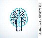 artificial intelligence concept ...   Shutterstock .eps vector #1038871561