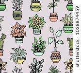 seamless pattern with different ... | Shutterstock .eps vector #1038874459