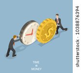 time is money flat isometric... | Shutterstock .eps vector #1038876394