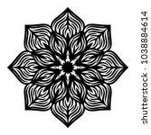 mandala. arabesque. round...   Shutterstock .eps vector #1038884614