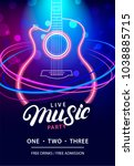 live music party design... | Shutterstock . vector #1038885715