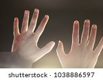 rise your hand and show your... | Shutterstock . vector #1038886597