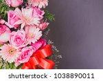 beautiful bouquet flower in vase | Shutterstock . vector #1038890011