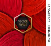 volumetric frame on saturated... | Shutterstock .eps vector #1038890719