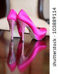 Cerise Pink Bride Shoes With...