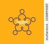 teamwork logo business line... | Shutterstock .eps vector #1038894085