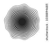 black concentric wavy lines... | Shutterstock .eps vector #1038894685