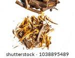 close up of ayurvedic herb... | Shutterstock . vector #1038895489