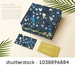 terrazzo pattern on packaging... | Shutterstock .eps vector #1038896884