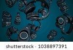 3d illustration rotating... | Shutterstock . vector #1038897391