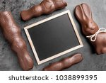 traditional chocolate easter... | Shutterstock . vector #1038899395