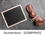 traditional chocolate easter... | Shutterstock . vector #1038899401