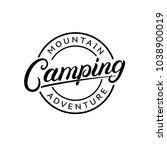 camping hand written lettering... | Shutterstock . vector #1038900019