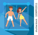 pose of people in a dream.... | Shutterstock .eps vector #1038902011