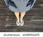 blue shoes isolated on wood... | Shutterstock . vector #1038902695