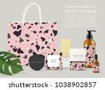 beautiful terrazzo pattern on... | Shutterstock .eps vector #1038902857