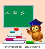 illustration owl points to... | Shutterstock . vector #103890545
