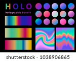 holographic bundle. collection... | Shutterstock .eps vector #1038906865