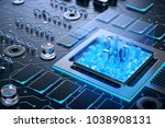 3d illustration of futuristic... | Shutterstock . vector #1038908131