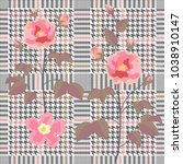 trendy checkered  print with... | Shutterstock .eps vector #1038910147