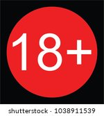 adult symbol  18  sign  vector | Shutterstock .eps vector #1038911539