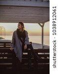 outdoor portrait woman in...   Shutterstock . vector #1038912061