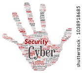 conceptual cyber security... | Shutterstock . vector #1038918685