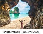 landscape of phra nang cave... | Shutterstock . vector #1038919021