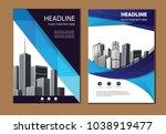 design cover poster a4 catalog... | Shutterstock .eps vector #1038919477