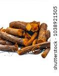 close up of ayurvedic herb... | Shutterstock . vector #1038921505