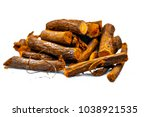 close up of ayurvedic herb... | Shutterstock . vector #1038921535