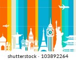travel background   vector... | Shutterstock .eps vector #103892264