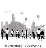 stock vector illustration  park | Shutterstock .eps vector #103892441