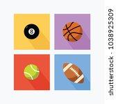 basketball  snooker  tennis... | Shutterstock .eps vector #1038925309