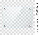 transparent glass banner ... | Shutterstock .eps vector #1038931414