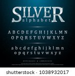80's retro elegant silver... | Shutterstock .eps vector #1038932017
