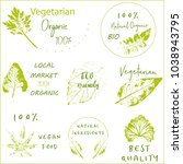 hand drawn labels and elements... | Shutterstock .eps vector #1038943795
