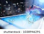 gears  mechanism design on... | Shutterstock . vector #1038946291