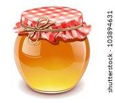 honey isolated - stock vector